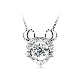 BELEC - 925 Sterling Silver Zodiac Mouse Pendant with Necklace