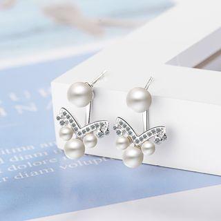 Knick Knack - Faux Pearl Swing Earring