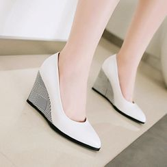 Freesia - 尖头船跟-鞋跟鞋