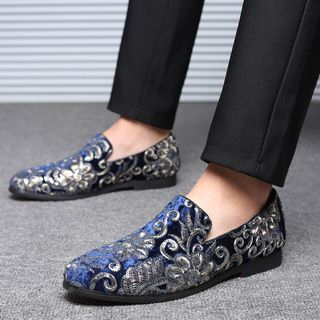 Taragan - Sequined Flannel Loafers
