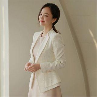 Styleberry - Single-Breasted A-Line Blazer
