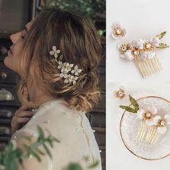Vivian Design - Wedding Rhinestone Flower Hair Comb