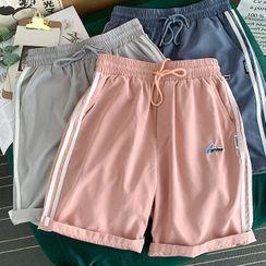 Lazi Boi - Striped Drawstring Shorts