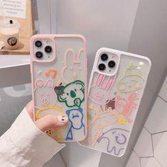 TinyGal - Animal Print Transparent Phone Case - iPhone 11 Pro Max / 11 Pro / 11 / XS Max / XS / XR / X / 8 / 8 Plus / 7 / 7 Plus / 6s / 6s Plus