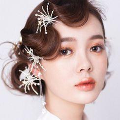 Onngak - Wedding Faux Crystal Headpiece / Earring