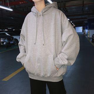 JUN.LEE - Couple Matching Plain Hoodie