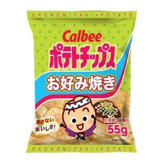 Calbee - Okonomiyaki Potato Chips 55g