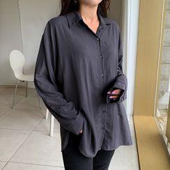 Envy Look - Drop-Shoulder Plain Shirt