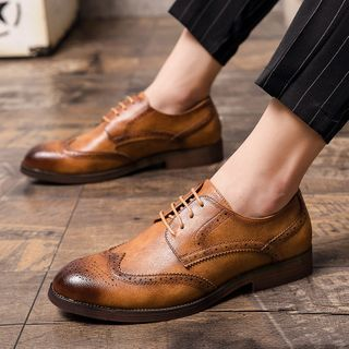 WeWolf - Faux-Leather Lace-Up Wingtip Oxford Shoes