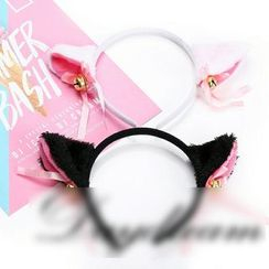 Sohma - Chenille Cat Ear Headband / Hair Clips
