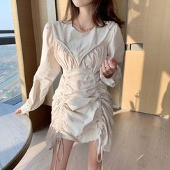 Alfie - Drawstring Long-Sleeve Dress