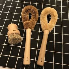 Swan Story - Wooden Handle Kitchen Cleaning Brush (various designs)