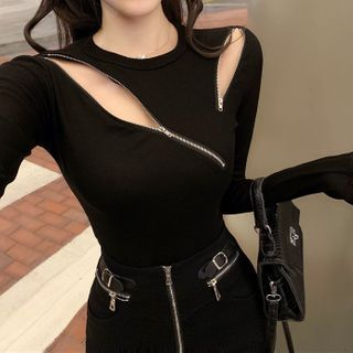 Donnae - Zip Detail Knit Top