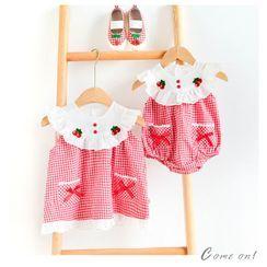 Cen2ury - Kids Sleeveless Plaid A-Line Dress / Playsuit