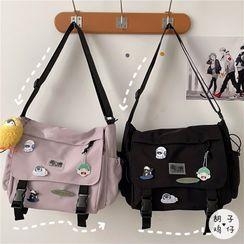 Anchara - Buckled Flap Crossbody Bag
