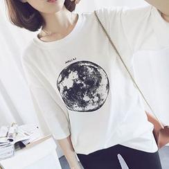 Cloud Nine - Moon Print T-Shirt