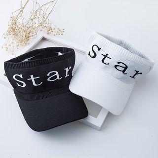 Hat Society - 字母针织遮阳帽