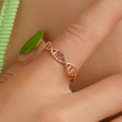 Cheermo - Alloy Double Helix Open Ring