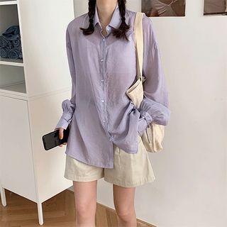 PINPI - Long-Sleeve Plain Shirt
