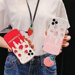 Zone Zero - 草莓 / 桃印花手机壳 - 苹果 iPhone 11 Pro Max / 11 Pro / 11 / XS Max / XS / XR / X / 8 / 8 Plus / 7 / 7 Plus / 6s / 6s Plus
