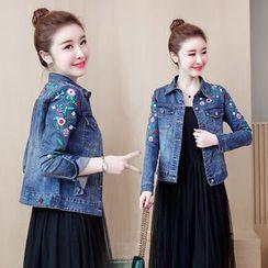 SEPH - Floral Embroidery Denim Jacket