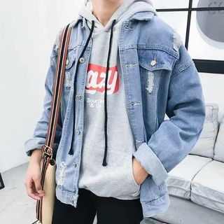 Wescosso - Ripped Denim Jacket