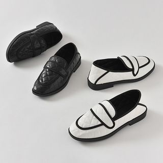 HOTPING - Quilted Foldable Penny Loafers