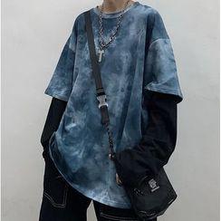 Banash - Mock Two-Piece Tie-Dye Long-Sleeve T-Shirt
