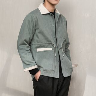 Orizzon - Collared Button-Up Jacket