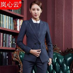 Skyheart - Double-Breasted Blazer / Dress Pants / Pencil Skirt / Set