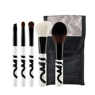 I'M MEME - I'm Travel Brush Set: Powder Brush 1pc + Contour Brush 1pc + Eyeshadow Brush 1pc + Eyeshadow Blending Brush 1pc + Eyebrow Brush 1pc