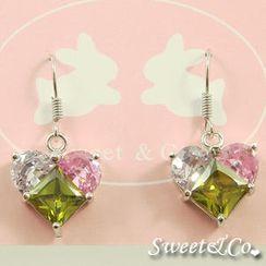 Sweet & Co. - Austrian Crystal Heart Earrings