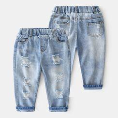 貝殼童裝 - 小童磨破牛仔褲