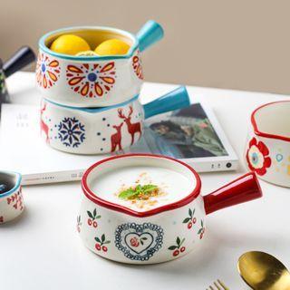 Kawa Simaya - Patterned Ceramic Bowl with Handle
