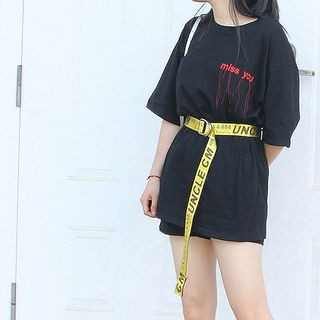 CIMAO - Canvas Belt with Woven Words