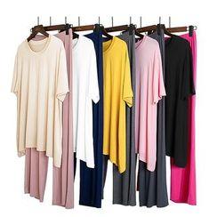 Anbeitin - 家居服套裝:短袖+長褲