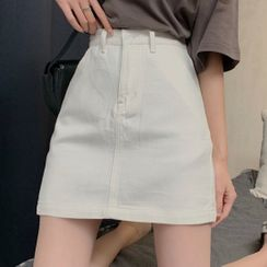 Caocaosuit - 迷你塑身牛仔裙