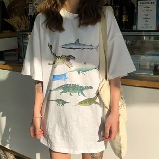 Luna Rouge - Short-Sleeve Animal Print T-Shirt