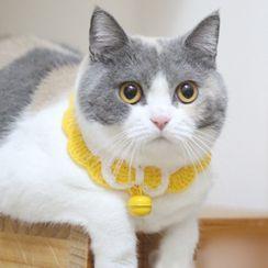 Catland - Bell Knit Bow Pet Collar