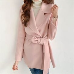 PIPPIN - Set: Open-Front Wool Blend Jacket + Detachable Padded Vest
