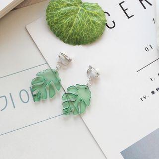 Green Isle - Leaf Drop Earrings