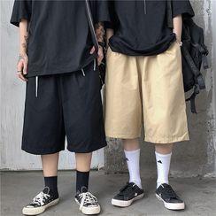 Porstina - Plain Straight-Cut Shorts