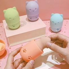 Michu - 旅行小貓粉撲收納盒