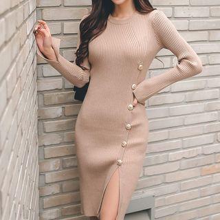 Glaypio - 長袖針織塑身連衣裙