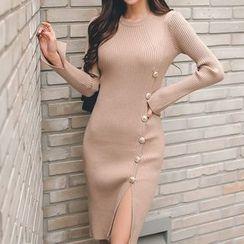 Glaypio - 长袖针织塑身连衣裙