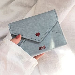 Yongolia - Heart Embroidery Envelope Wallet