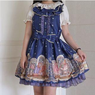 Tomoyo - Sleeveless Printed Mini A-Line Dress
