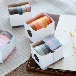 Bamadi - 五件套装: 纯色美纹纸胶带