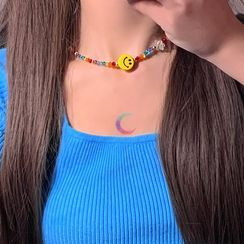 Princess Cat - Smiley Bead Choker / Bracelet