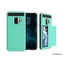 Wolfa - Samsung S9 plus - 滑門手機保護套連卡套